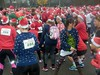 Ugly Sweater Run 2016 (Quetzalcoatl002) Tags: santa santarun running uglysweater event start crowd red santaclaus outfit people group sports fun amsterdam