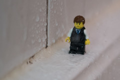 I'm a walkin' in the rain... (Legodude:)277) Tags: macromondays inspiredbyasong lyrics lego minifigures water