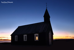 Budir Black Church, Snæfellsnes Peninsula, Iceland (Midlands Reptiles & British Wildlife Diaries) Tags: sunriseatbudirblackchurch snæfellsnespeninsula iceland nightscape sunrise black church northern lights graves icelandic wideangle canon 7dmkii long exposure slow shutter cold winter swasons seasons seasonal north david nixon fauna forest ecology ltd