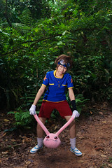 Taichi (bdrc) Tags: asdgraphy yagami taichi digimon plushie monster bukit gasing forest jungle green strobe godox sony a6000 sigma 30mm prime kaori lala cosplay girl portrait crossplay boy character plants trees troll