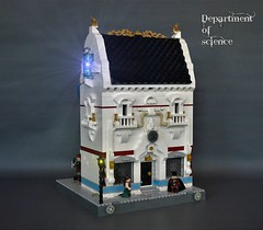 Department of science - poster (adde51) Tags: foitsop adde51 lego moc steampunk building house modular moduverse swebrick cb department science scifi