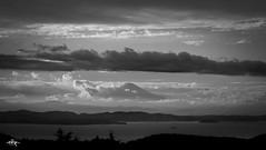 Mt. Fuji in the clouds (Greg Tokyo) Tags: chiba japan fuji mountfuji fujisan 富士山 千葉 mountain bw 白黒 clouds 2017 6d