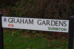IMGP7296 (Steve Guess) Tags: road sign street funiture surbiton tolworth surrey london england gb uk grahamgardens kt6 graeme garden thegoodies imsorryihaventaclue isihac