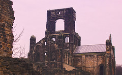 Kirkstall Abbey in the rain (billy_hunt) Tags: hdr arch architecture church ruin history drizzle rain winter