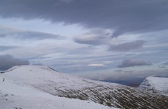 Snow in the Brecon Beacons, 2016 (harry.blytheallen) Tags: yellow walker alpha sony photograph photooftheday mountains winter mountain walk uk cribyn wales penyfan breconbeacons snow