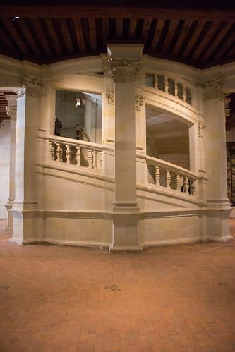Escalier à double révolution, Château de Chambord