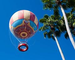 Disney observation balloon 2013 (hz536n/George Thomas) Tags: 2013 disney disneyworld downtowndisney ef1740mmf4lusm labcolor balloon balloonride blue canon5d hdr lab lake trees cs6 copyright