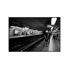 (Ariel Villegas) Tags: buenosaires subway subte underground summarit3525 blackandwhite streetphotography