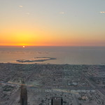 The World Dubai zum Sonnenuntergang