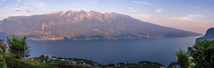 Garda Evening 4 (alewauk) Tags: sunset panorama mountain lake landscape garda hill gardasee sonya7 minoltamdrokkor50mm