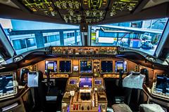 "Cockpit of a Boeing 777-300ER • <a style=""font-size:0.8em;"" href=""http://www.flickr.com/photos/125767964@N08/19446090246/"" target=""_blank"">View on Flickr</a>"
