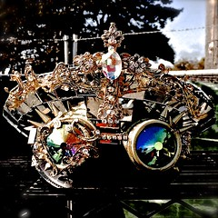 Kaleidoscope Eyes, Emerald City (jasleen.bhardwaj) Tags: diamonds gold rainbow colorful hats royal kaleidoscope crown emerald throne studded