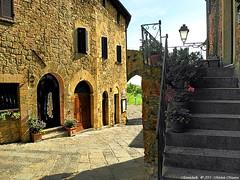 Montichiello,Il Borgo, The Ancient village (michele masiero) Tags: italia siena toscana valdorcia vicoli borghi montichiello fotosketcher ilborgodimontichiello