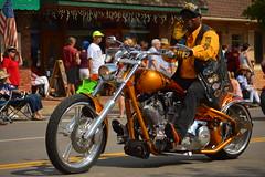 Golden ride (radargeek) Tags: oklahoma 4th july parade motorcycle edmond 2015 libertyfest