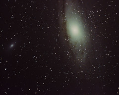 Andromeda Galaxy (M31) and M110 (Sp3ed Demon) Tags: sky lake star nikon ngc 110 young deep 8 edward andromeda galaxy m31 orion galaxies messier 31 phelps gem 205 224 m110 newtonian astrophotograpy d5100