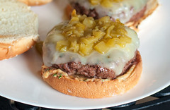 Southwestern Burgers with Chipotle Mayo close up (The_Little_GSP) Tags: food dinner recipe burger greenchile thelittlegsp