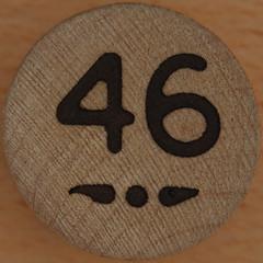 Bingo Number 46 (Leo Reynolds) Tags: xleol30x squaredcircle number numberbingo xsquarex bingo lotto loto houseyhousey housey housie housiehousie numberset 46 sqset119 40s canon eos 40d xx2015xx xxtensxx sqset