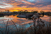 Desert Oasis (blue5011b) Tags: arizona sunset desert water reflections clouds marsh southwest nikon d700