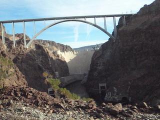 Hoover Dam and Tillman-O'Callaghan bridge