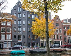 Old Warehouses and Mansions on the Bloemgracht, Amsterdam (PhotosToArtByMike) Tags: bloemgrachtcanal bloemgracht jordaan warehouses mansions autumn amsterdam netherlands picturesque canal flowercanal gabledhouses canalring canalhouse grachtengordel dutch holland