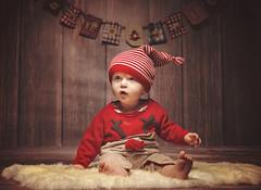Little Santa (Wojtek Piatek) Tags: santa christmas xmas studio sony alpha a99 sigma 50mm art 14 softbox holiday winter hat baby child 2016 photography mini session sweter jumper reindeer