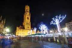 Bruges Christmas Market (Rich3012) Tags: bruges brugges belgium christmas market grote markt night lights belfry tower