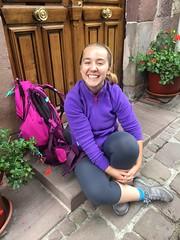 Met this American girl in Saint Jean Peid de port. The next day she would start walking El Camino Santiago de Compostela. Thats 780km!