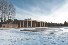 Skogskyrkogården (shouldifollow) Tags: architecture stockholm stockholmcity quaint gunnar asplund sigurdlewerentz snow winter sky sweden sverige
