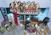 MiniMates - Aliens Scenes (Closeup) (Darth Ray) Tags: minimates aliens scenes with some predators visiting background by thk tree house kids 2004 deluxe playset