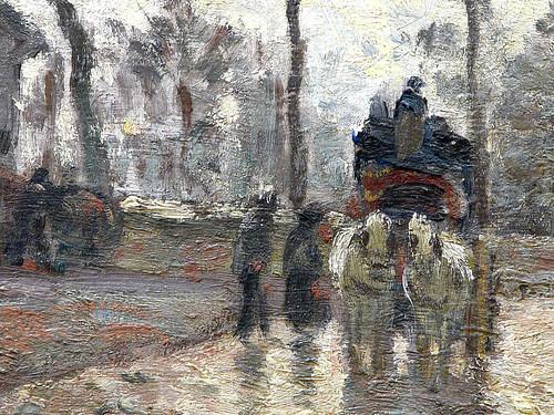 PISSARRO Camille,1870 - Diligence à Louveciennes (Orsay) - Detail 13