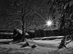 Low-key Winter Impression (W_von_S) Tags: winter winterlandschaft winterpanorama landscape landschaft sonne sun lowkey snow snowlandscape snowscape schnee schneelandschaft alpen alps alpine alpinepanorama alpenblick alpinewinterpanorama hemmersuppenalm hindenburghütte reitimwinkel bavaria bayern germany deutschland sony wvons werner sunray sonnenstern hütte bäume trees outdoor januar january 2017 schneeschuhwanderung snowshoehike blackwhite schwarzweiz monochrome einfarbig bw gegenlicht licht light backlight skancheli wow nature natur