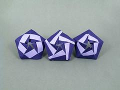 Punica (masha_losk) Tags: kusudama кусудама origamiwork origamiart foliage origami paper paperfolding modularorigami unitorigami модульноеоригами оригами бумага folded symmetry design handmade art
