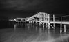 into the night (Keith Midson) Tags: jetty wharf sandybay tasmania derwentriver hobart night river water evening