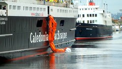 Scotland Greenock ship repair dock car ferry Caledonian Isles ship evacuation drill video 18 January 2017 by Anne MacKay (Anne MacKay images of interest & wonder) Tags: scotland greenock ship repair dock caledonian macbrayne car ferry isles evacuation drill video hs30 18 january 2017 by anne mackay