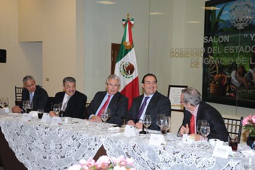 """El gobernador Javier Duarte de Ochoa asistió a Cena a los Ponentes del Foro """"Seguridad con Legalidad""""."""