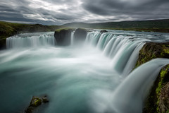 Waterfall of the Gods (Franziska Liehl) Tags: waterfall water iceland sky grey greysky clouds cloudy looming eerie beautiful powerful strong nature outdoors travel landscape longexposure rock awesome amazing beautyofnature mighty
