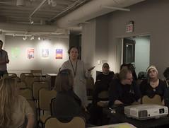 Cathie Asking questions (SXU-ART) Tags: kylebaker silkscreen poster sxu artgallery print art 2017