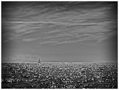 Serenity... (kurtwolf303) Tags: monochrome ocean meer bw sw einfarbig frame fotorahmen teneriffa sky himmel clouds wolken water wasser boat segelboot boot olympusem1 omd microfourthirds micro43 outdoor systemcamera mirrorlesscamera playadelasamericas unlimitedphotos topf25 250v10f topf50 spanien spain canaryislands kanaren 500v20f topf75 800views kurtwolf303 900views 1000v40f topf100 2500views topf150 3000views