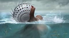 Escargot! ... by Niani (xxnianixx) Tags: sas saschas niani digitalart secondlife sl sea water waves fishes splash escargot helmet