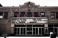 Rosy Roxy (hartsaw) Tags: roxytheater ottawa illinois marquee cinema signage