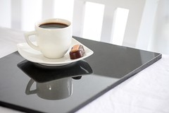 Coffee Time (haberlea) Tags: home athome drink hot coffee table mat blackcoffee chocolate cup