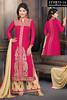 Akshara Pink Beige Straight Cut Palazzo Suit