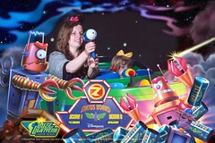 Buzz lightyear laser blast (Elysia in Wonderland) Tags: birthday vacation holiday paris france june buzz photo emily ride disneyland disney lightyear laser photopass blast eloise elysia 2015