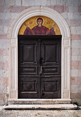 Doors of Montenegro (2) (Little Blind Chicken) Tags: door church stone ancient antique mosaic mary icon montenegro kotor budva