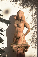 Cleo (jonathan charles photo) Tags: sculpture france art statue nude photo topf50 jonathan terracotta charles queen egyptian topless cleopatra
