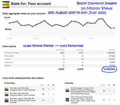 10 Million Flickr Views from 16th August 2007 to 6th July 2015 (Black Diamond Images) Tags: screenshot flickr text stats noosa statistics milestone milestones 10000000 flickrstats 10million 10000000views blackdiamondimages 10millionviews flickrstatistics 10millionhits 16thaugust2007to6thjuly2015 6thjuly2015