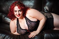2015 0710 Lila 253-Edit (geeman39) Tags: portrait panties studio nude model bbw olympus lingerie lila boudoir redhair pantyhose pinup busty nylons plussize omdem1