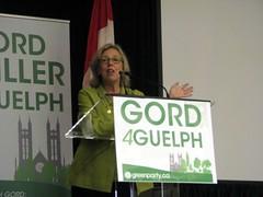 Elizabeth May (Laurel L. Russwurm) Tags: canada guelph vote 2015 elizabethmay gordmiller elxn42 bobjonkman