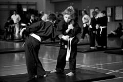 Kiaido Ryu Orange Belt Grading 093 (C & R Driver-Burgess) Tags: boy girl young child teen preteen adult man woman karate martial art hall floor dojo exercise demonstrate spar partner two group