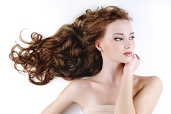 beautiful nice woman with long ringlets hair (Kho ảnh salon & trend mẫu tóc cẩm mỹ) Tags: beauty hair female hairstyle woman beautiful fashion ringlet curly long cute gloss smooth modern attractive young glamour pretty styling girl coiffure hairdo hairlocks falseeyelashes eyes expressive nude portrait pure skin clean bodycare skincare closeup head profile adult stylish brunette red lookingside one model elegant elegancy 20s indoors studio stroking white caucasian whitebackground horizontal